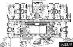 联排别墅室内设计平面图