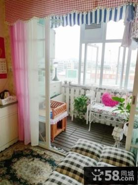 卧室阳台装修效果图 田园小调卧室阳台装修