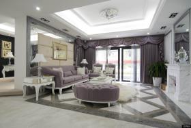 奢华欧式客厅吊顶装修设计