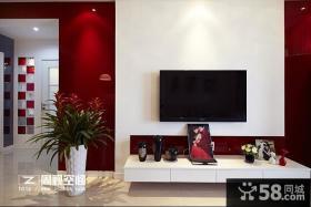 2013时尚液晶电视墙装修图片