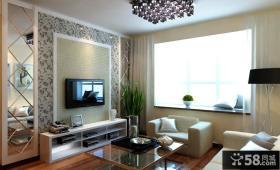 简欧客厅电视背景墙装修效果图 电视背景墙图片