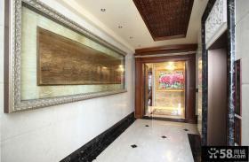现代中式别墅过道室内设计图片