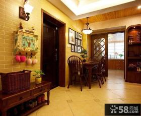 美式家居进门餐厅装潢图片