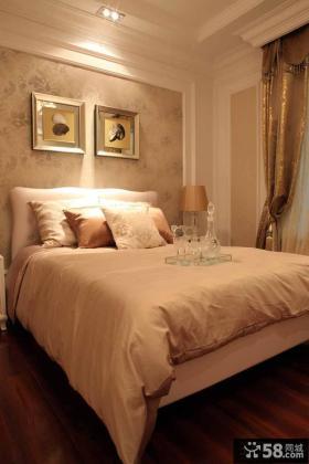 卧室床头背景墙装饰画效果图大全