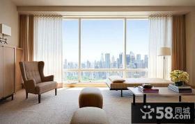 7万打造90平现代简约客厅飘窗装修实景图