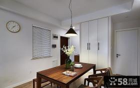 美式现代室内餐厅设计效果图
