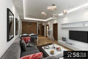 现代风格客厅影视墙装修效果图