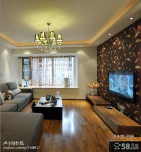 客厅壁纸电视墙装修效果图大全