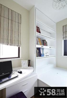 美式简约风格装修书房设计