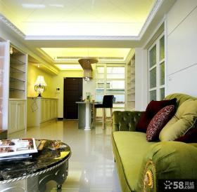 古典美式设计客厅吊顶欣赏