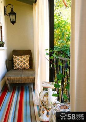 家庭小阳台设计效果图欣赏