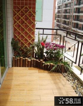 阳台木地板装修效果图欣赏