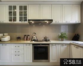 白色厨房橱柜图