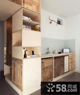 简约设计小户型房间厨房装饰图片