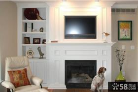 欧式壁炉电视背景墙装修效果图片