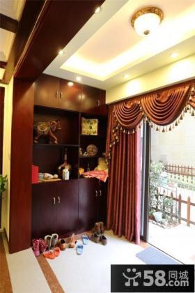 中式阳台玄关吊顶灯图片