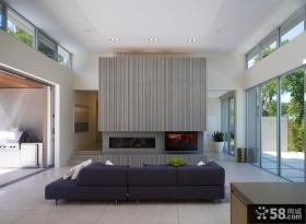 现代简约风格实景客厅图片