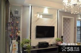 简单电视机背景墙装修效果图大全2013图片