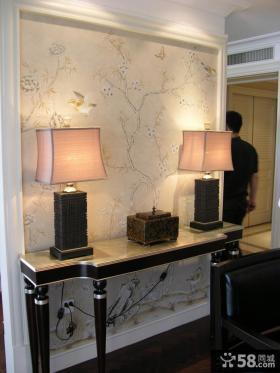 欧式风格别墅室内台灯图片