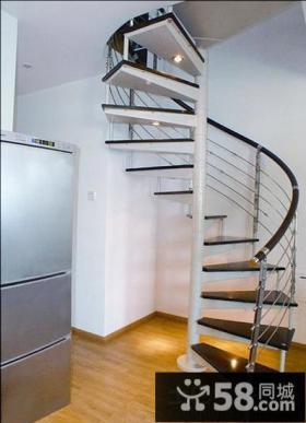 时尚室内旋转楼梯设计图