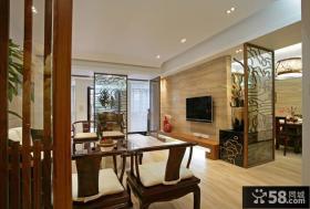 中式家居客厅玄关装修图片
