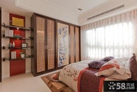 新中式家装卧室衣柜装修效果图
