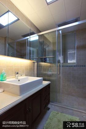卫生间玻璃门隔断效果图图片