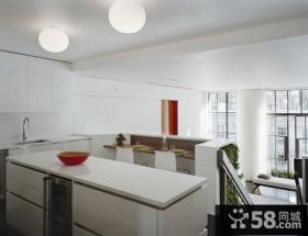 80后大爱的白色简欧风格厨房装修效果图大全2012图片