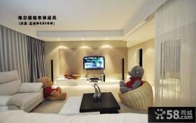2013现代简约风格客厅电视背景墙效果图