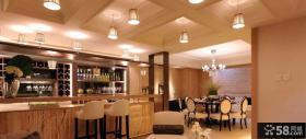 现代餐厅吊灯两室两厅装修效果图