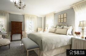 简约欧式风格卧室装修效果图