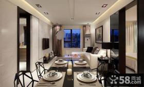 现代简约小户型餐厅客厅吊顶图片