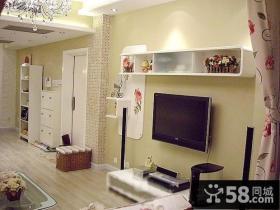 简约小户型小客厅电视背景墙装修效果图