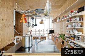 现代风格复式厨房设计图片