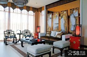 古典大器中式二居装潢案例