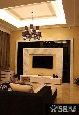现代小户型客厅吊顶装修效果图欣赏