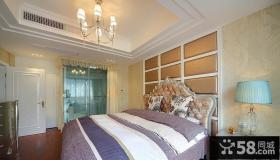 主卧室吊顶软包背景墙效果图