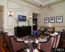 美式客厅电视墙造型