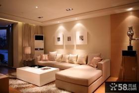 简约风格客厅墙上装饰画效果图