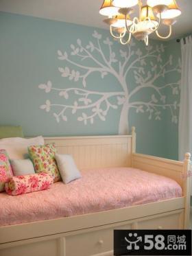 温馨卧室室内装饰壁画图片