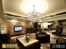 现代复式楼客厅吊顶效果图