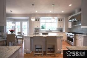 大理石台面厨房装修效果图