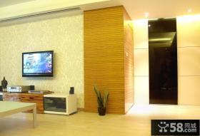 现代简约风格电视背景墙壁纸效果图