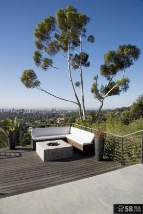 半山独立别墅图片大全 简约的阳台装修效果图大全2014图片