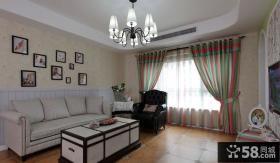 美式风格家居客厅家具摆放效果图片