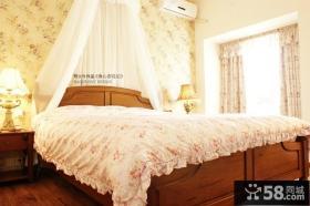 90平米田园风格小户型浪漫卧室装修效果图
