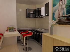 40平米超小户型婚房厨房装修效果图大全2013图片