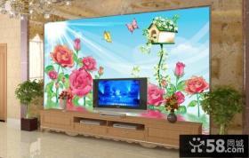 客厅电视背景墙装饰图案