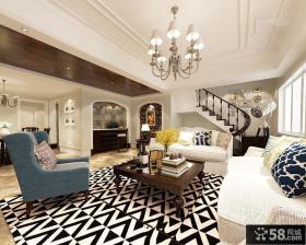 美式设计客厅吊顶大全图