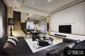 复式客厅电视背景墙设计图